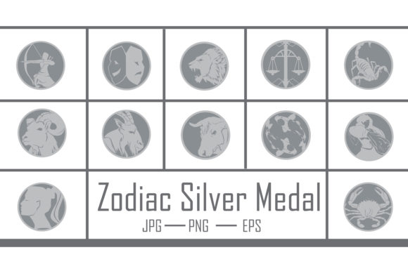 Zodiac Silver Medal Graphic Crafts By RFG