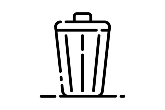 Print on Demand: Bin Graphic Icons By khld939
