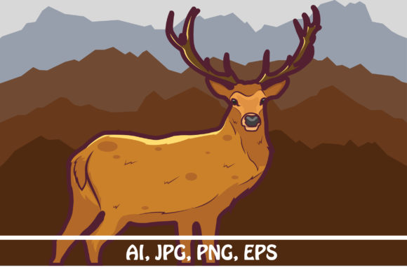 Download Free Deer Graphic By Rafcreative3 Creative Fabrica for Cricut Explore, Silhouette and other cutting machines.