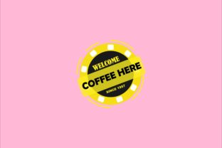 Welcome Banner Vector Template - Coffee Here #13 Graphic Objects By tunasbangsa.project