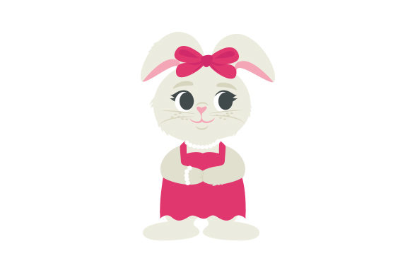 Fancy Bunny Easter Craft Cut File By Creative Fabrica Crafts