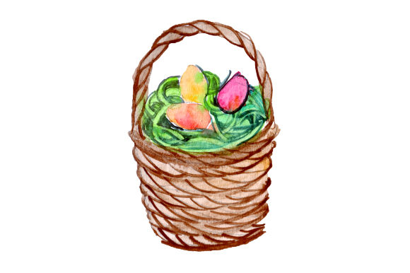 Easter Basket Easter Craft Cut File By Creative Fabrica Crafts - Image 1