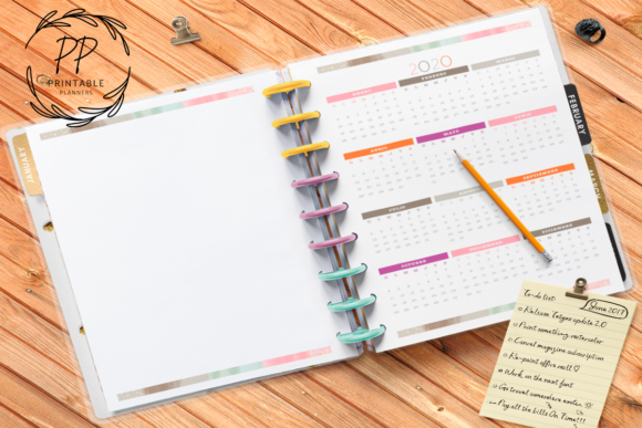 Print on Demand: 2020-2021 Teachers Planner Graphic Teaching Materials By Printable Planners - Image 2