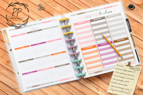 Print on Demand: 2020-2021 Teachers Planner Graphic Teaching Materials By Printable Planners - Image 3