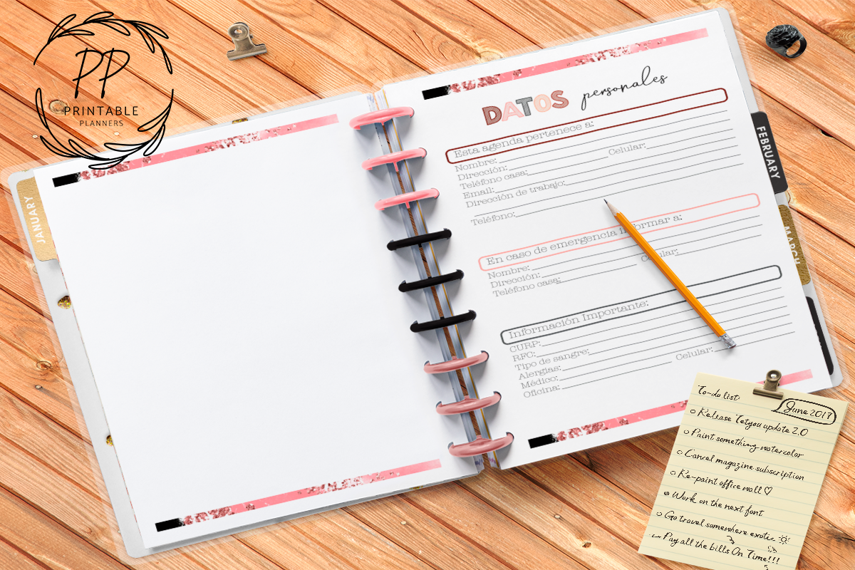 Download Free 2020 2021 Teachers Planner Spanish Graphic By Printable Planners for Cricut Explore, Silhouette and other cutting machines.