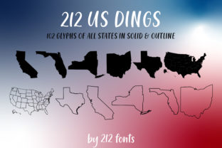 Print on Demand: 212 US Dings Dingbats Font By 212 Fonts