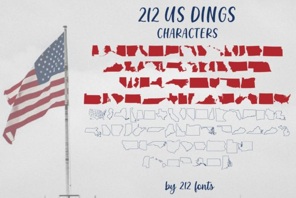 Print on Demand: 212 US Dings Dingbats Font By 212 Fonts - Image 2