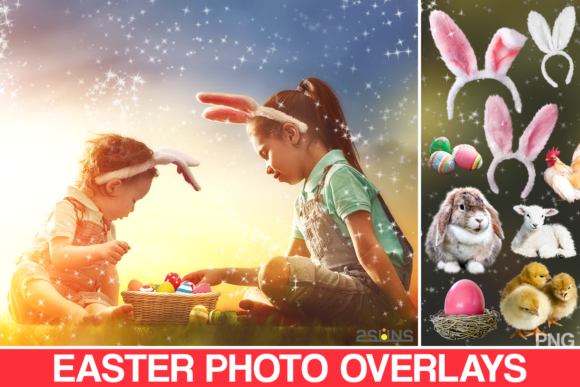 50 Easter Photo Overlays Graphic Layer Styles By 2SUNSoverlays