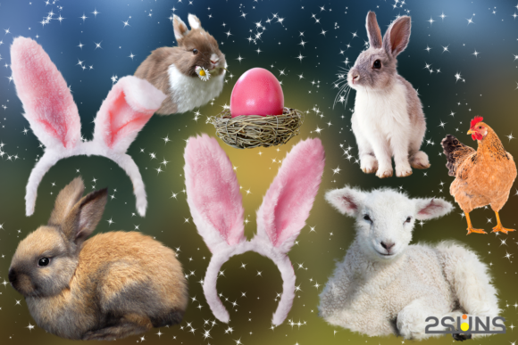 Download Free 50 Easter Photo Overlays Graphic By 2suns Creative Fabrica SVG Cut Files