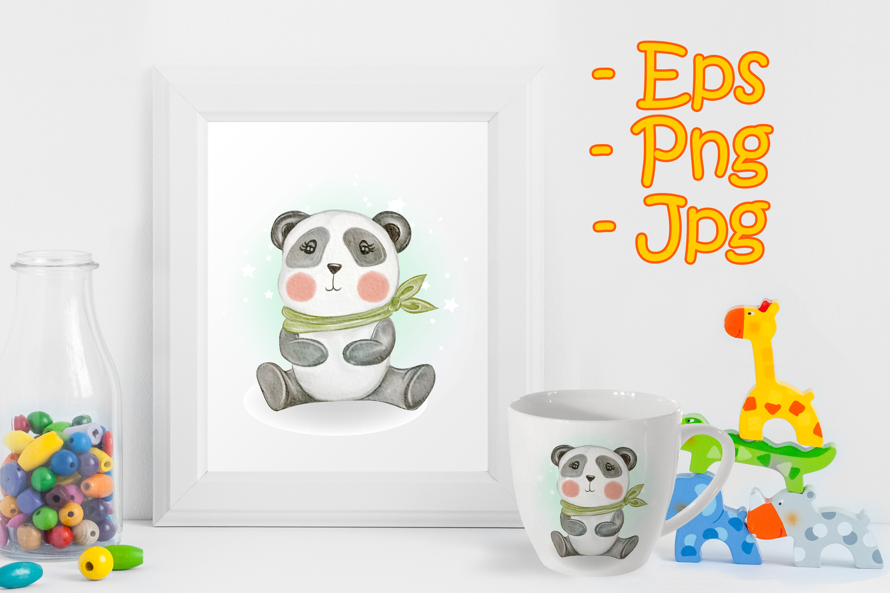 Download Free Adorable Cute Kawaii Baby Panda Graphic By Orchidart Creative SVG Cut Files