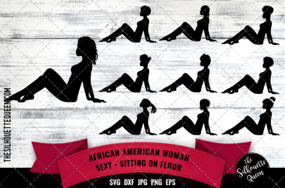 African American Sexy Woman Graphic Crafts By thesilhouettequeenshop