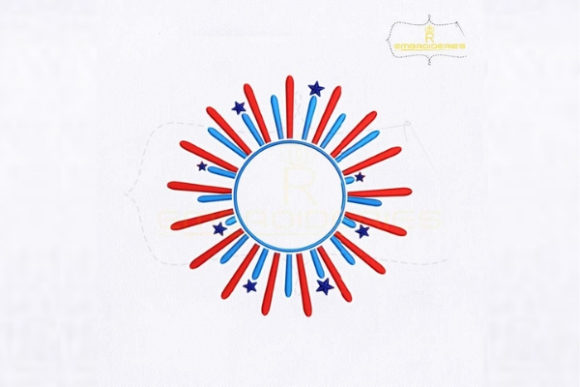 American Fireworks Independence Day Embroidery Design By RoyalEmbroideries