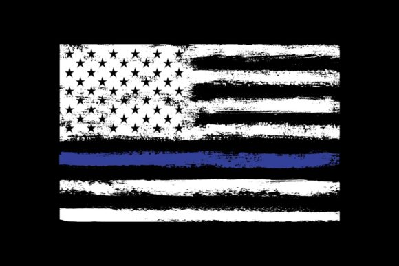 Download Free American Flag Blue Line Police Memorial Graphic By Sunandmoon for Cricut Explore, Silhouette and other cutting machines.