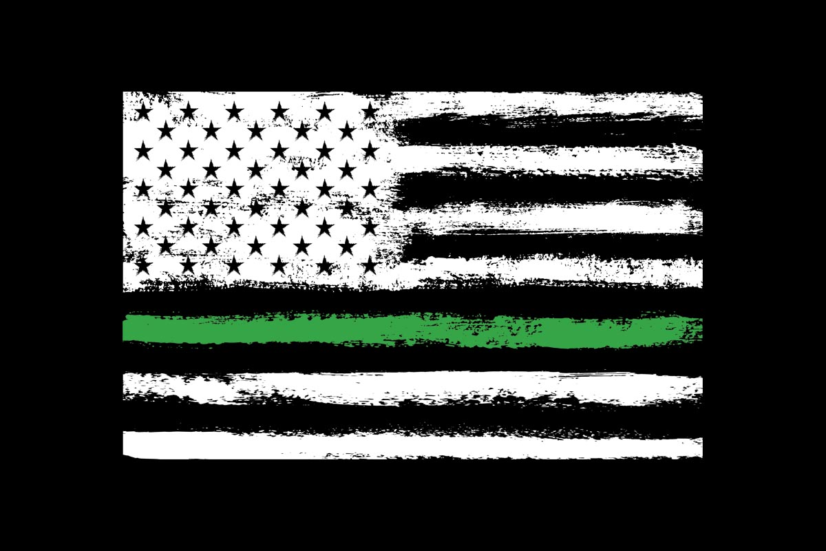 Download Free American Flag Green Line Border Patrol Graphic By Sunandmoon for Cricut Explore, Silhouette and other cutting machines.