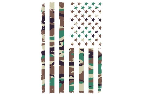 Download Free American Flag Hunter Green Camo Graphic By Sunandmoon Creative for Cricut Explore, Silhouette and other cutting machines.