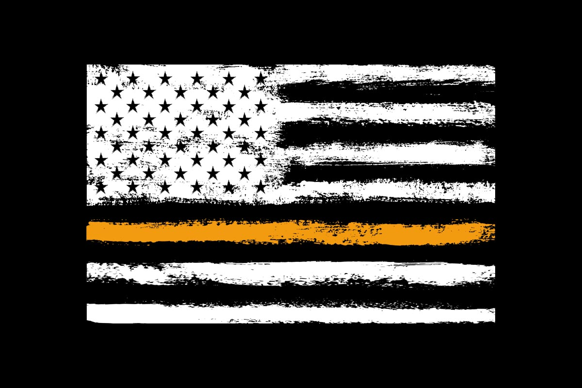 Download Free American Flag Orange Line Search Rescue Graphic By Sunandmoon for Cricut Explore, Silhouette and other cutting machines.