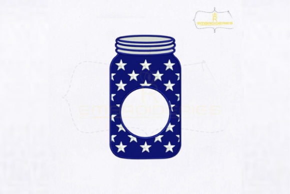 Download Free American Mason Jar Monogram Creative Fabrica for Cricut Explore, Silhouette and other cutting machines.