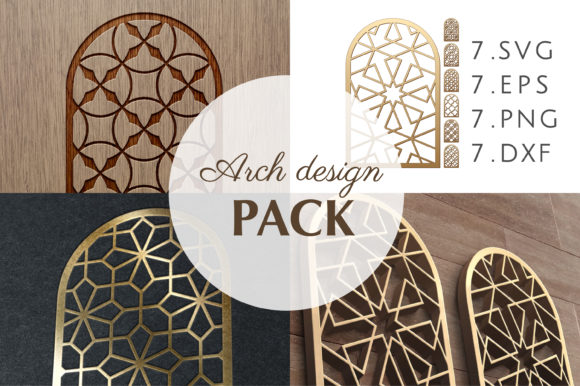 Download Free 33 Templates Arab Geometric Pattern Graphic By Artvectorstrore for Cricut Explore, Silhouette and other cutting machines.