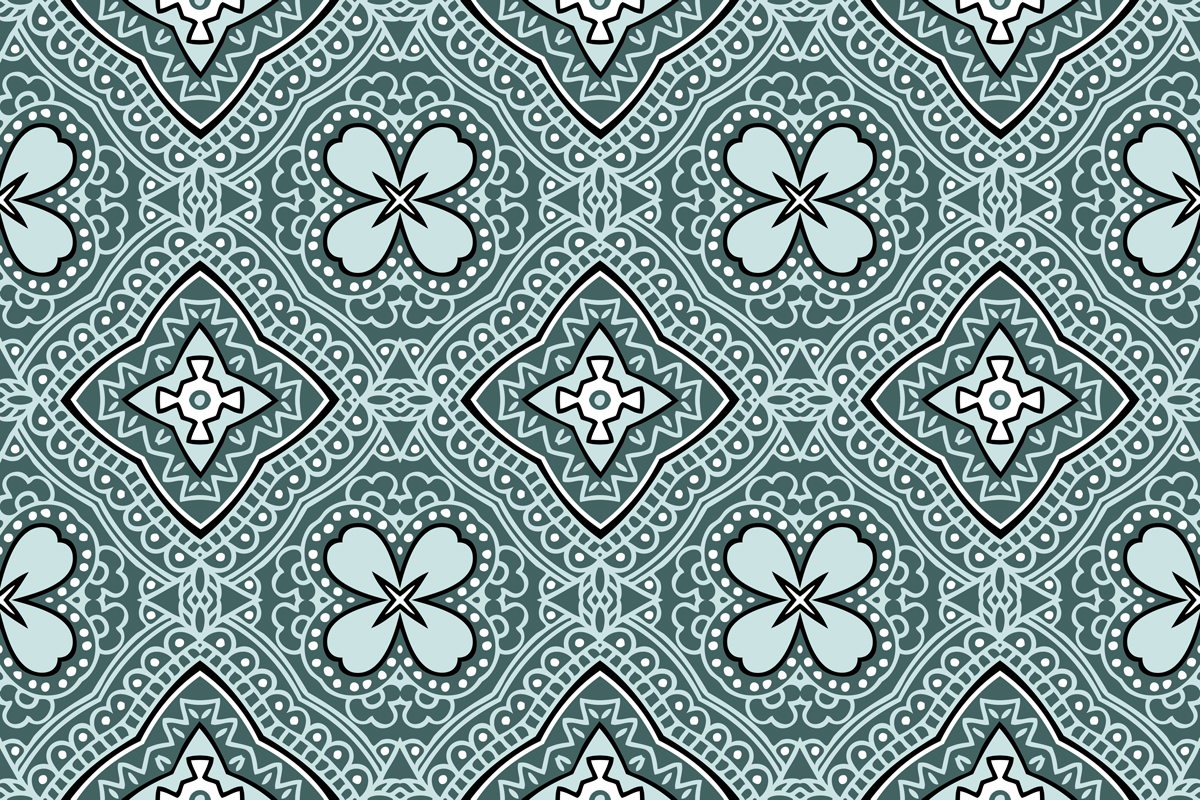 Download Free Bandana Style Mint Green Pattern Grafico Por Emikundesigns for Cricut Explore, Silhouette and other cutting machines.