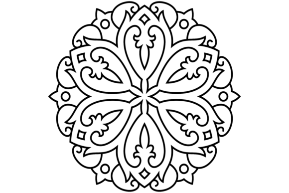 Print on Demand: Beautiful Mandala Design 282 Graphic Coloring Pages & Books Adults By ermannofficial