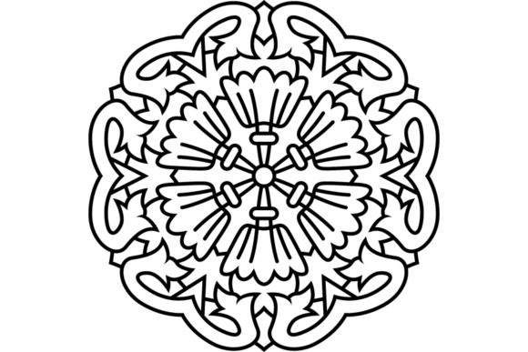 Print on Demand: Beautiful Mandala Design 283 Graphic Coloring Pages & Books Adults By ermannofficial