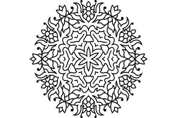 Print on Demand: Beautiful Mandala Design 285 Graphic Coloring Pages & Books Adults By ermannofficial