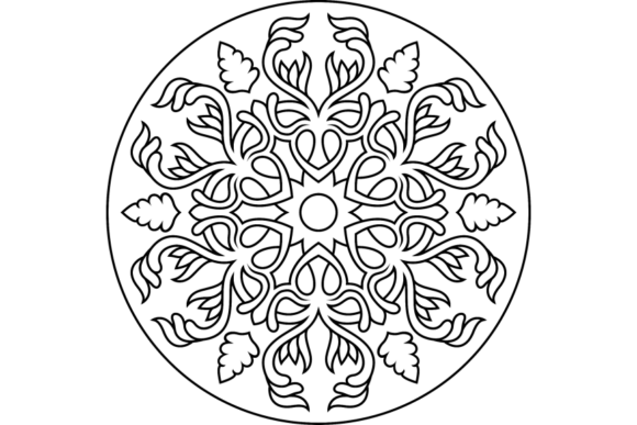 Print on Demand: Beautiful Mandala Design 287 Graphic Coloring Pages & Books Adults By ermannofficial