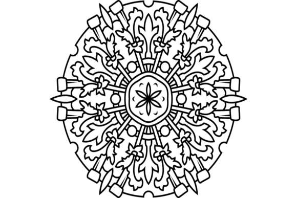 Print on Demand: Beautiful Mandala Design 289 Graphic Coloring Pages & Books Adults By ermannofficial
