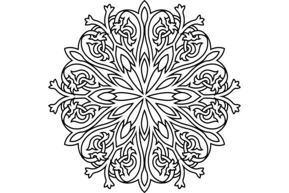 Print on Demand: Beautiful Mandala Design 304 Graphic Coloring Pages & Books Adults By ermannofficial