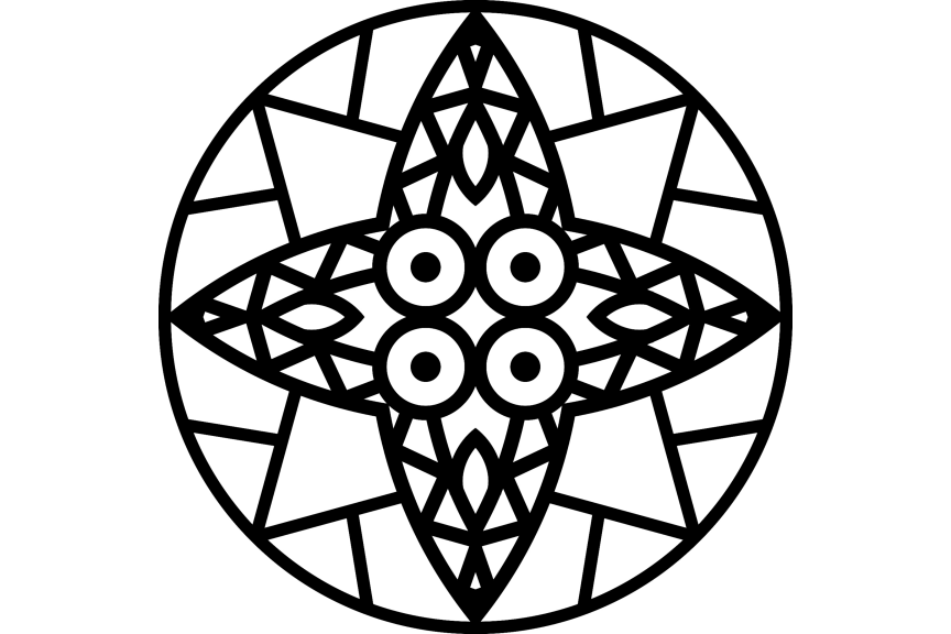 Download Free Beautiful Mandala Design 313 Graphic By Ermannofficial for Cricut Explore, Silhouette and other cutting machines.