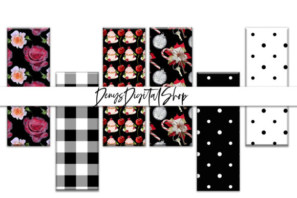 Download Free Black Flowers Flowers Digital Bookmarks Graphic By for Cricut Explore, Silhouette and other cutting machines.