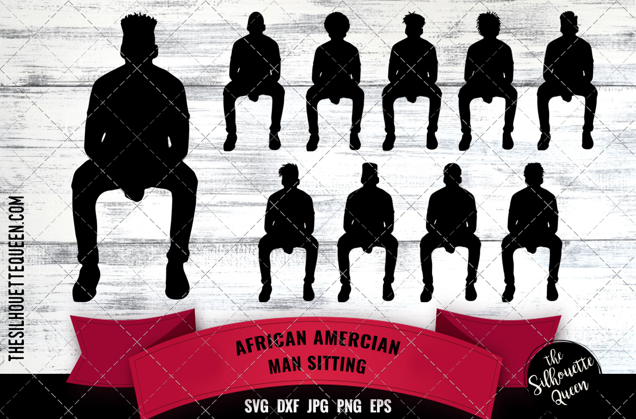 Download Free Black Man Sitting Svg Graphic By Thesilhouettequeenshop for Cricut Explore, Silhouette and other cutting machines.