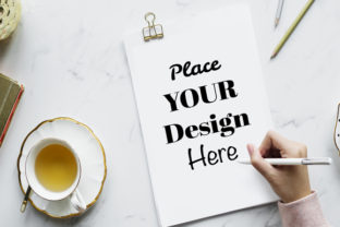Blank Paper Mockup Photoshop Graphic Product Mockups By Vutura