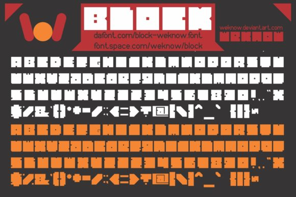 Download Free Block Font By Weknow Creative Fabrica for Cricut Explore, Silhouette and other cutting machines.