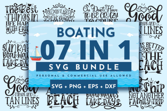 Print on Demand: Boating Bundle Graphic Crafts By OrinDesign