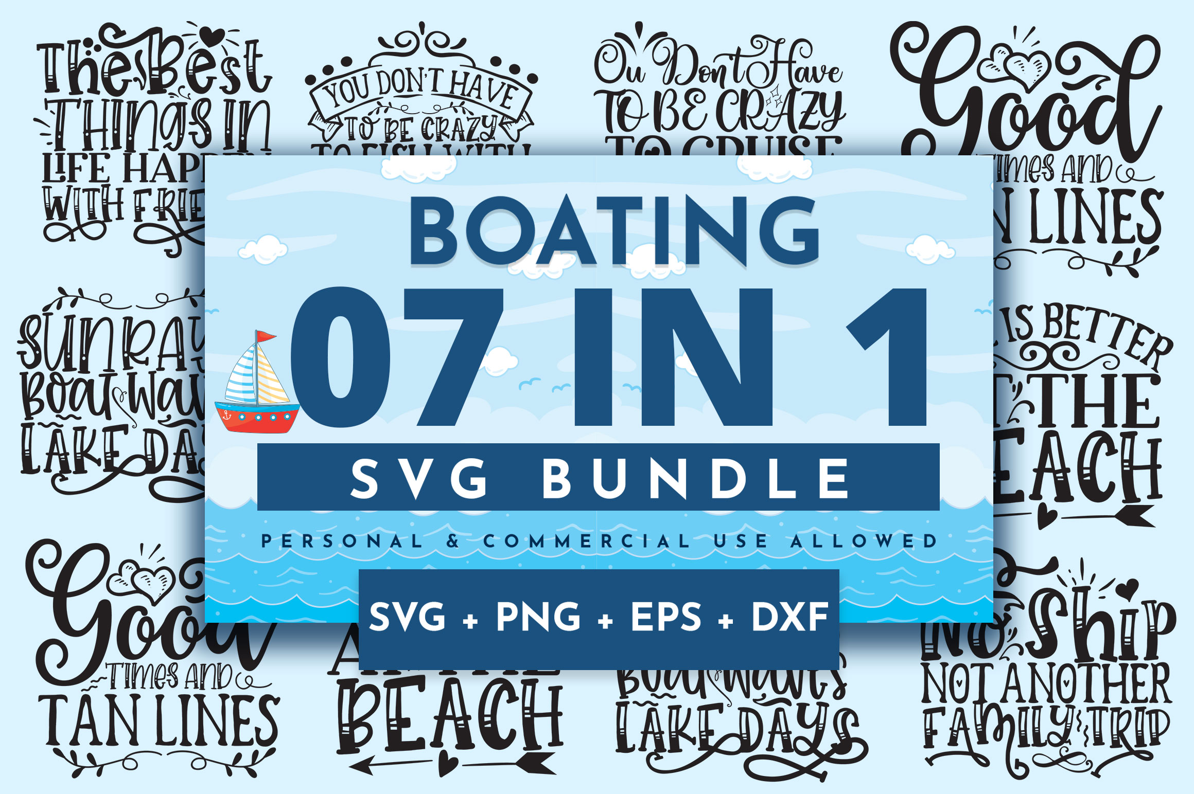 Download Free Boating Bundle Graphic By Orindesign Creative Fabrica for Cricut Explore, Silhouette and other cutting machines.