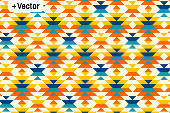 Download Free Bohemian Aztec Diamonds Orange Pattern Graphic By Dana Du Design for Cricut Explore, Silhouette and other cutting machines.