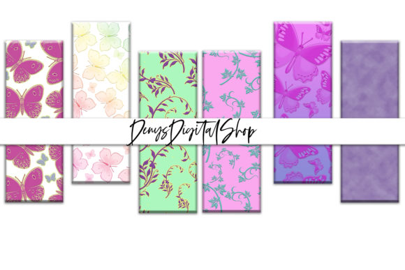 Download Free Bookmarks Spring Spring Digital Bookmark Graphic By for Cricut Explore, Silhouette and other cutting machines.