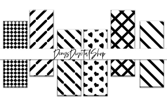 Download Free Bookmarks White And Black Stripes Graphic By Denysdigitalshop for Cricut Explore, Silhouette and other cutting machines.