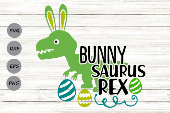 Download Free Bunnysaurus Rex Graphic By Cosmosfineart Creative Fabrica for Cricut Explore, Silhouette and other cutting machines.