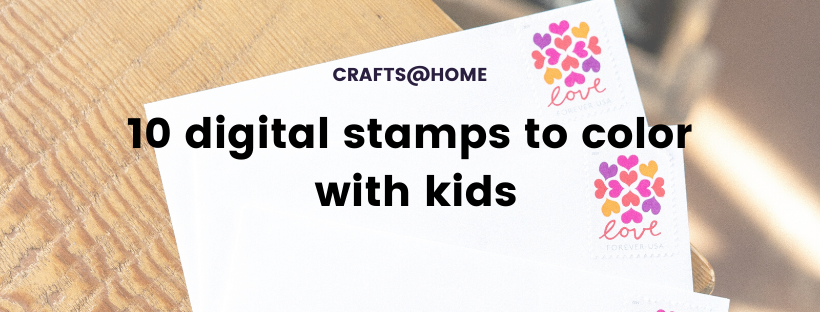 10 digital stamps to color with kids