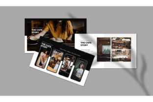 Print on Demand: Cafe Bar   PowerPoint Template Graphic Presentation Templates By Almeera Studio