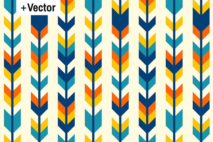 Download Free Colorful Boho Aztec Arrows Pattern Graphic By Dana Du Design for Cricut Explore, Silhouette and other cutting machines.