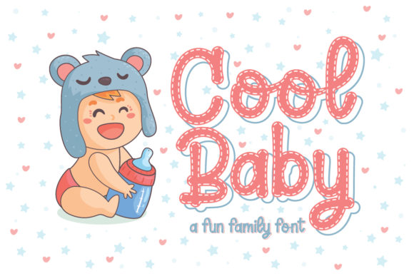 Print on Demand: Cool Baby Display Schriftarten von Almeera Studio