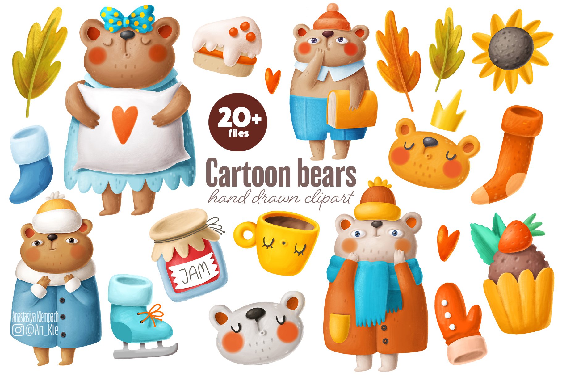 Cute Bears Clipart Collection (Graphic) by Architekt_AT ...