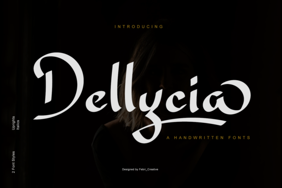 Print on Demand: Dellycia Script & Handwritten Font By Febri Creative