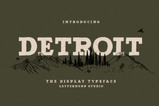 Print on Demand: Detroit Slab Serif Font By letterhend