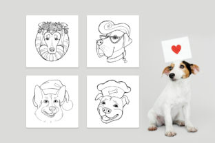 Dog Portraits - Coloring Book Graphic Coloring Pages & Books Kids By NataliMyaStore 2