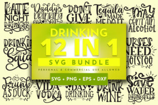 Print on Demand: Drinking Bundle Graphic Crafts By OrinDesign
