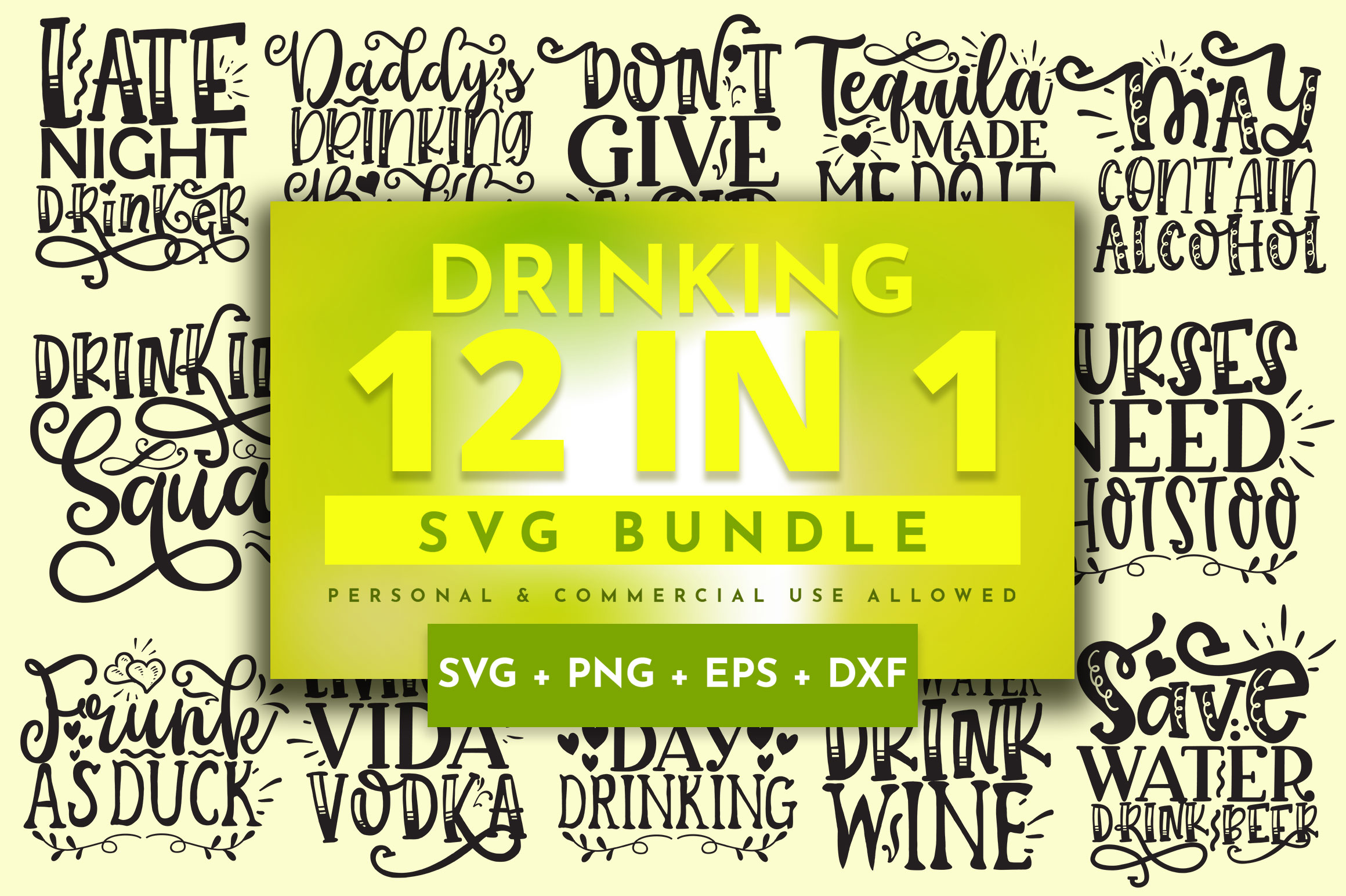 Download Free Drinking Bundle Graphic By Orindesign Creative Fabrica for Cricut Explore, Silhouette and other cutting machines.